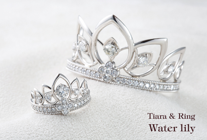 Tiara & Ring - Water lily